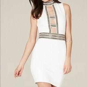 Embellished Bebe Ivory Festive dress!!!